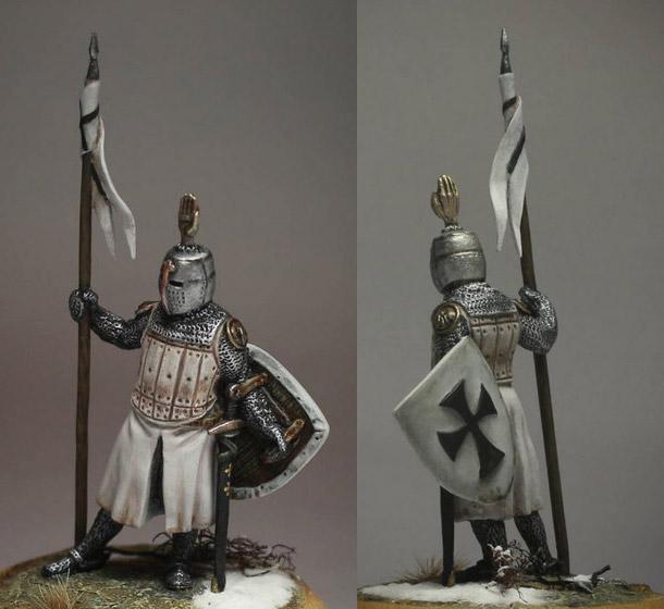 Figures: Сommander of Teutonic order, XIII cent.