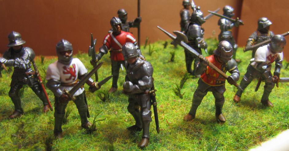 Figures: Foot knights, late Middle ages, photo #10