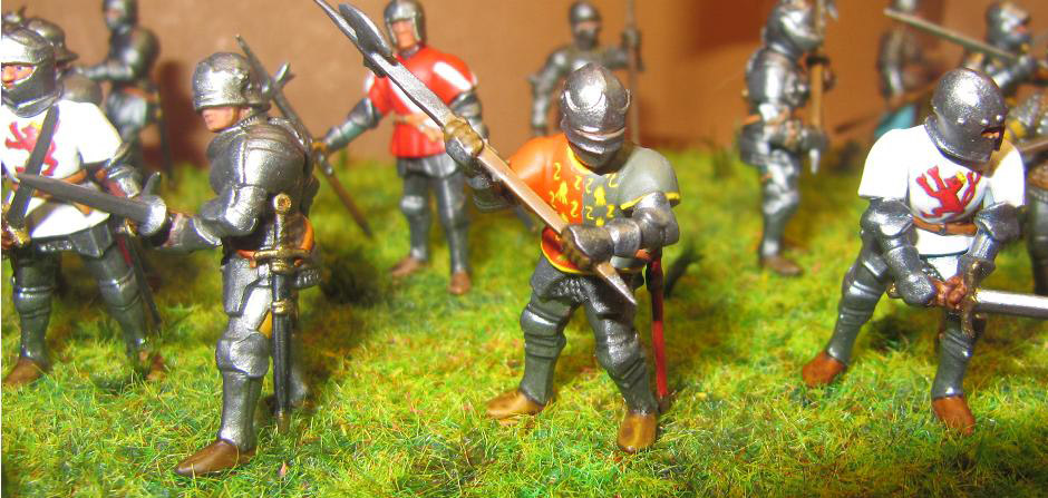 Figures: Foot knights, late Middle ages, photo #5