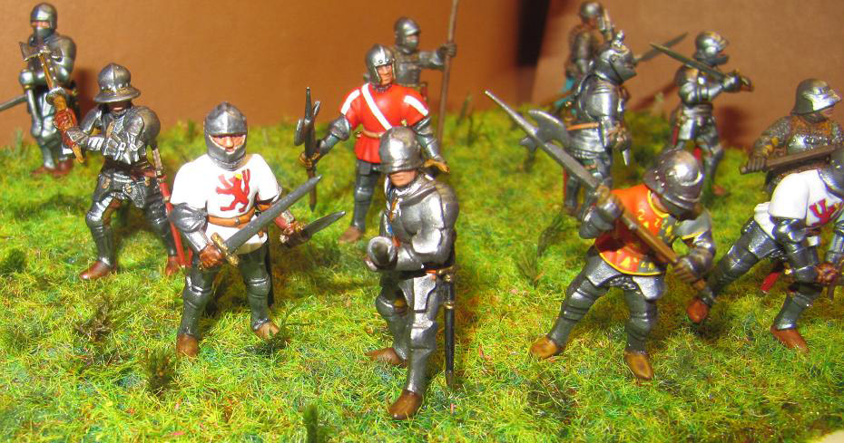 Figures: Foot knights, late Middle ages, photo #6