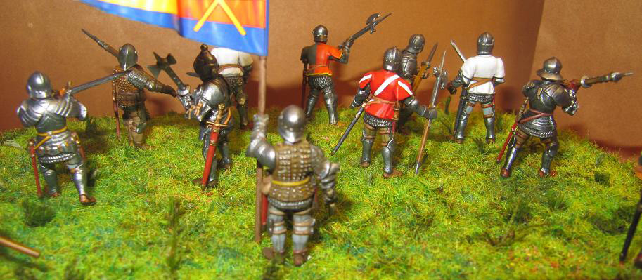 Figures: Foot knights, late Middle ages, photo #7