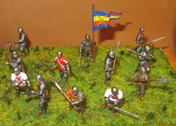Figures: Foot knights, late Middle ages