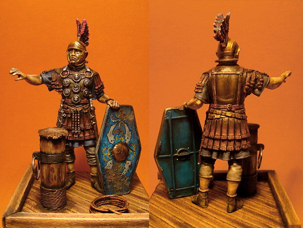 Figures: Roman officer, 2nd auxiliary legion