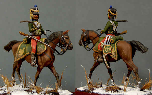 Figures: Private, 6th hussars regt.