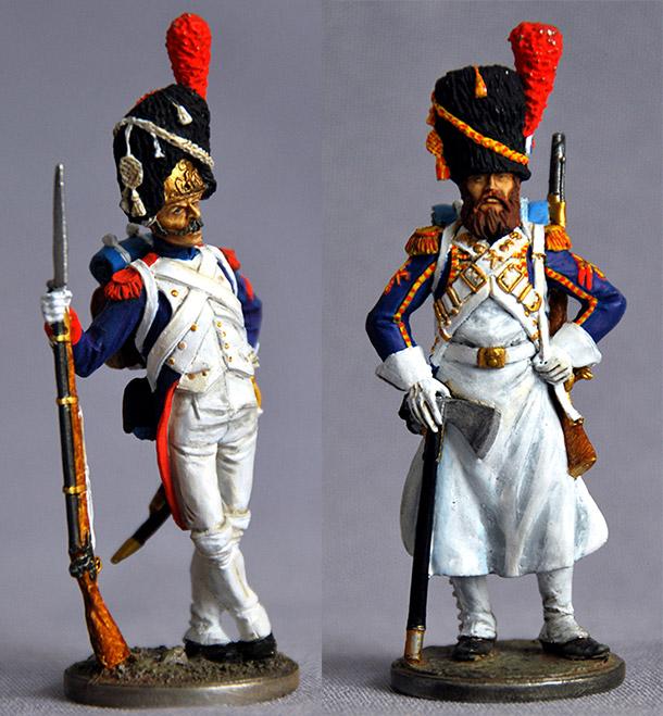 Figures: Foot grenadiers of the Emperor's Guard