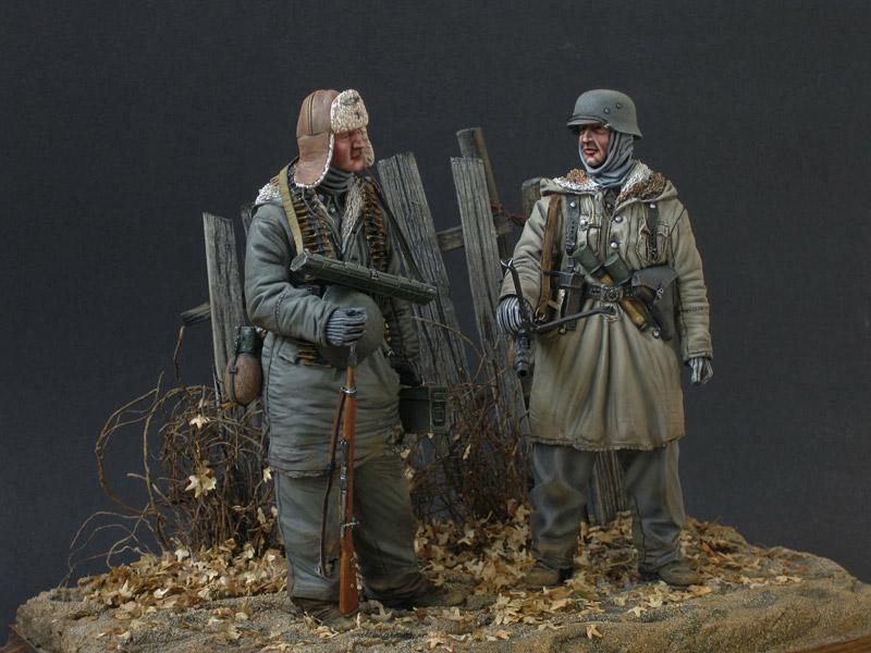 Figures: Machine gun crew, SS div. Totenkopf, 1943-44, photo #2