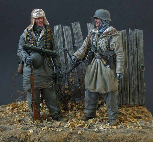 Figures: Machine gun crew, SS div. Totenkopf, 1943-44