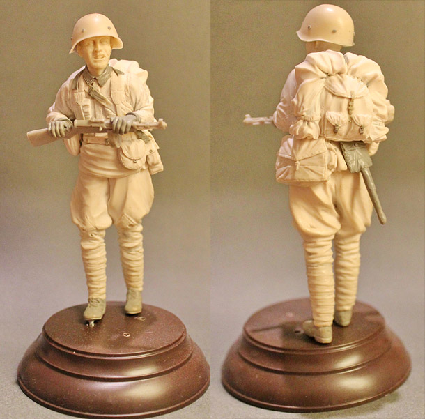 Sculpture: Red Army infantryman, summer 1941-42