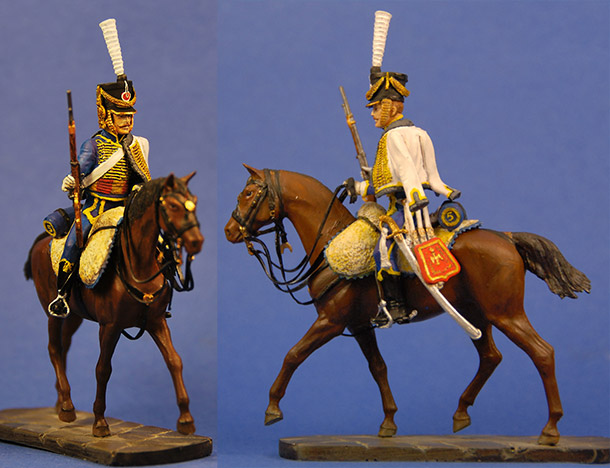 Figures: French hussar, 5th regt., 1812