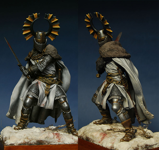Figures: Teutonic knight, XIV cent.