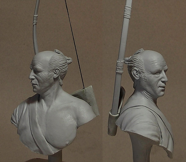 Sculpture: Japanese archer