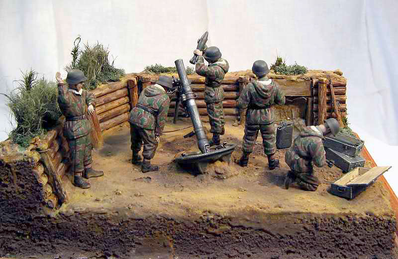 Dioramas and Vignettes: German Mortar Team, photo #1