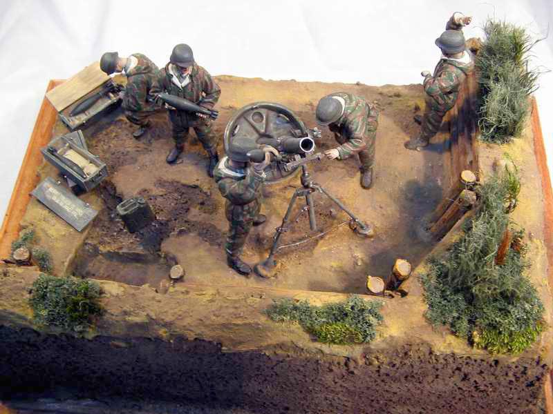 Dioramas and Vignettes: German Mortar Team, photo #10