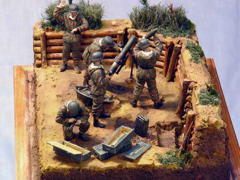 Dioramas and Vignettes: German Mortar Team, photo #8