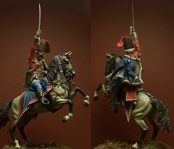 Figures: Prussian officer, 2nd Hussars, 1762