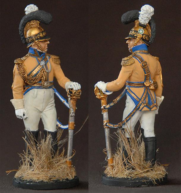Figures: Officer, «Guadre du Coeur» regt., Saxony, 1810-13