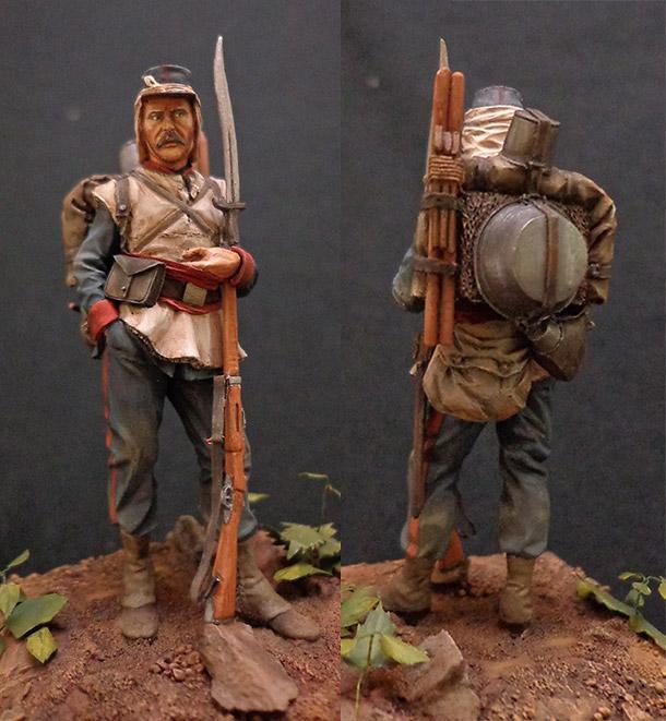 Figures: French infantryman, Franco-Prussian war