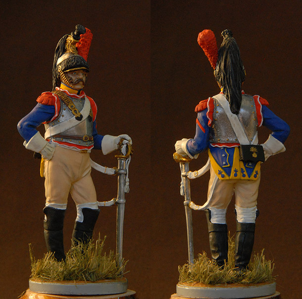 Figures: French cuirassier, 10th regt., 1812