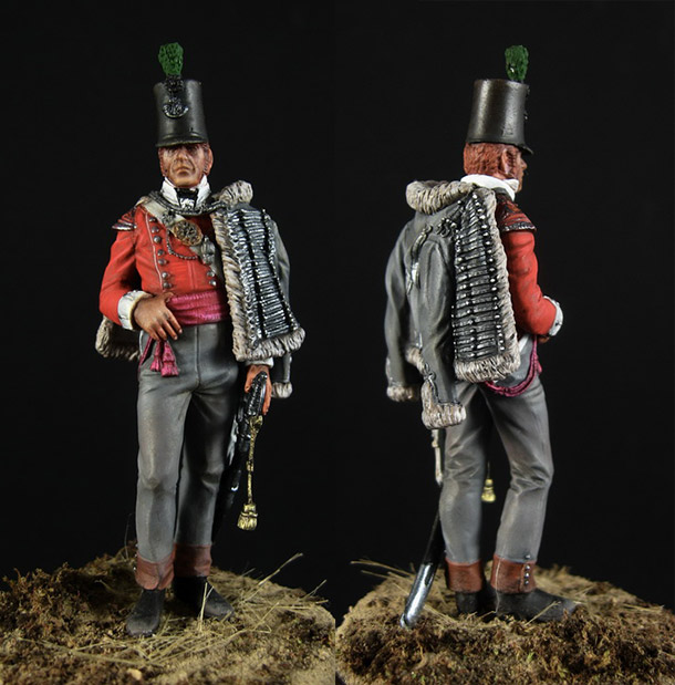 Figures: Officer, 43rd regt. of British light infantry