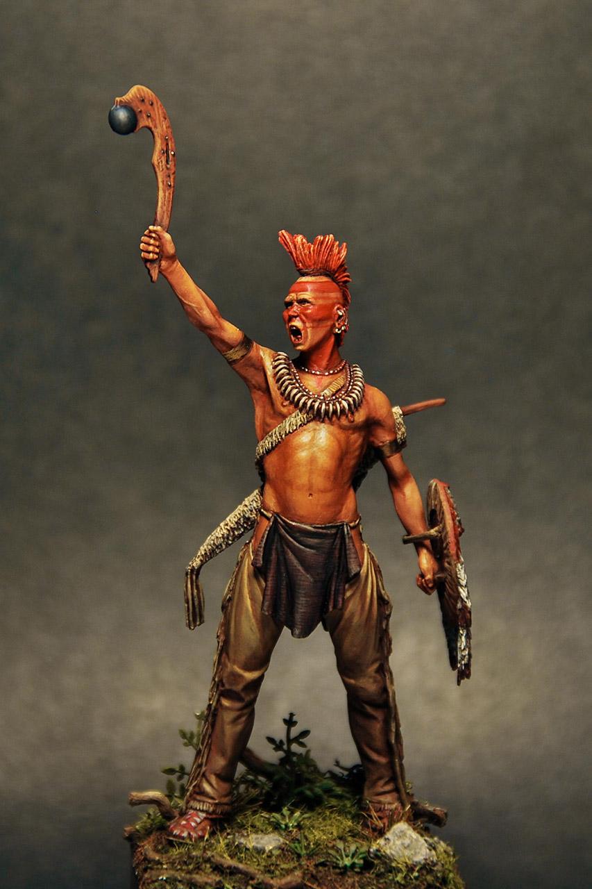 Figures: Pawnee warrior, photo #1