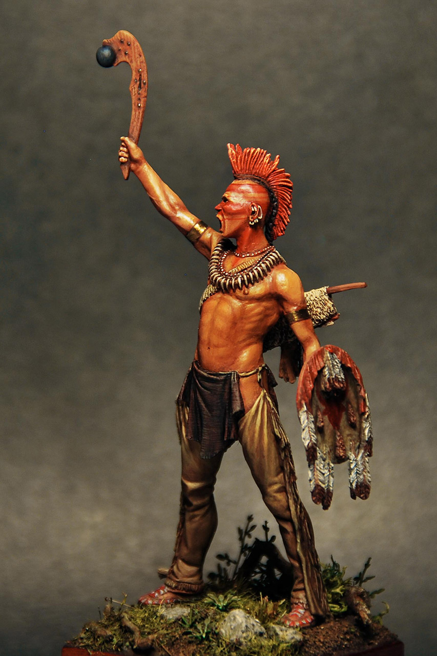 Figures: Pawnee warrior, photo #2