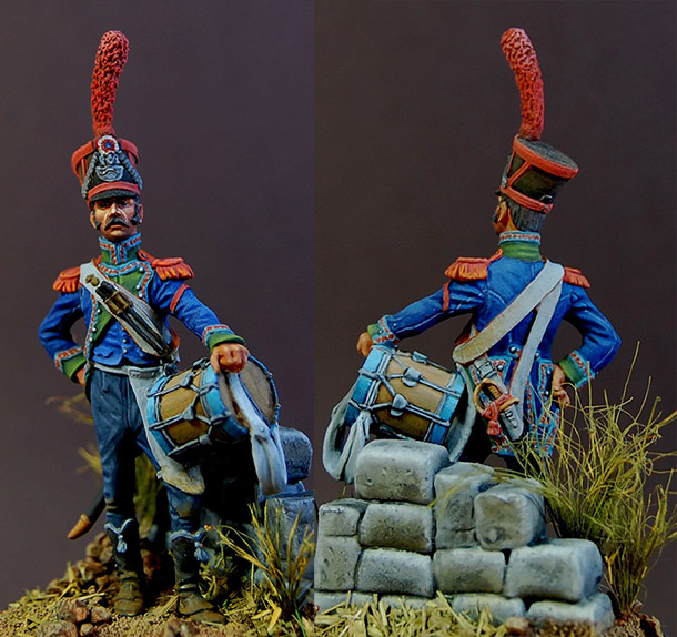 Figures: Drummer, carabiniers of 8th light regt., France