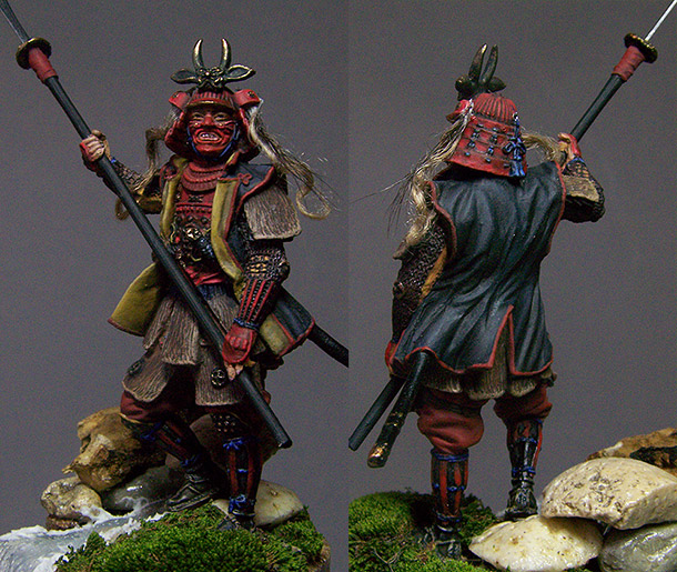 Figures: Red demon by the stream