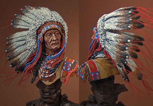 Figures: Oglala Sioux chief