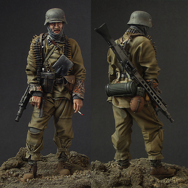 Figures: SS machine gunner