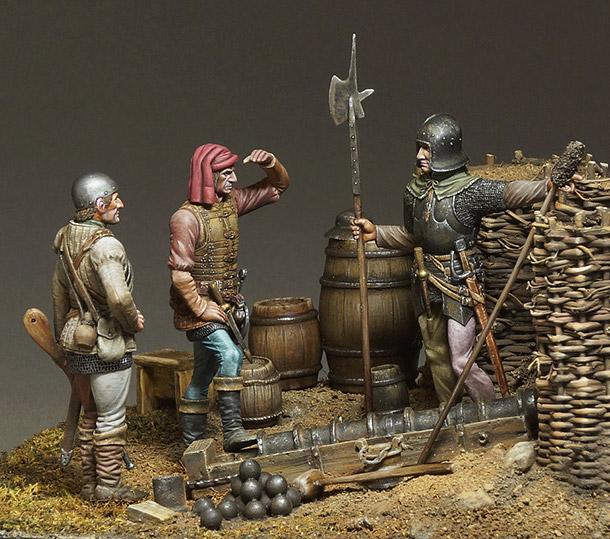Dioramas and Vignettes: Artillerymen, XV cent.