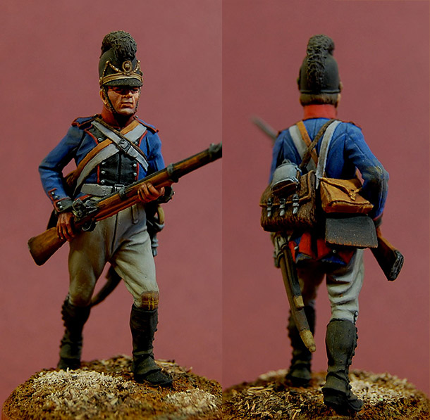 Figures: Private, 13th line infantry regt., Bavaria, 1805-07
