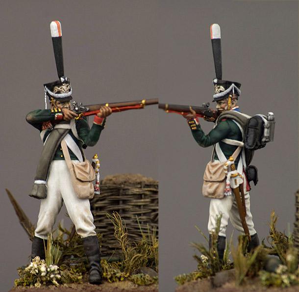 Figures: NCO, Leib-Guard Semenovsky regt., 1812