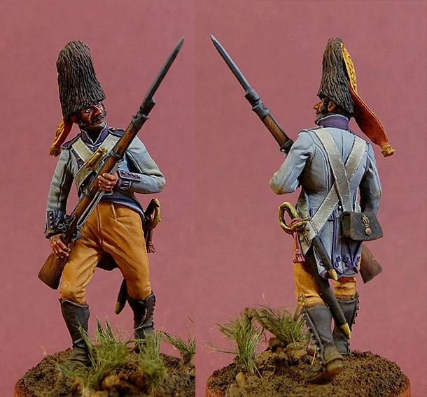 Figures: Grenadier, «Princess» regt., Spain, 1808
