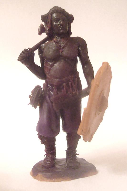 Sculpture: Russian warrior, late X c. A.D., photo #1