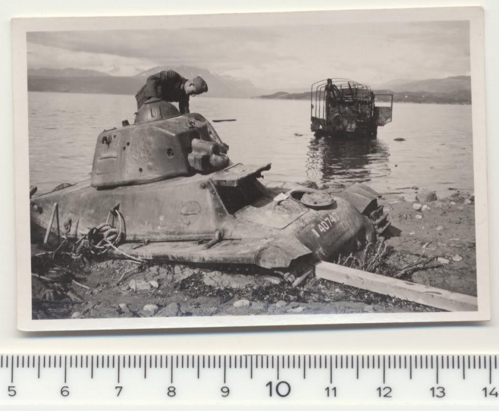 Dioramas and Vignettes: Beautiful view of Ofotfjord. Narvik, 1940s, photo #23