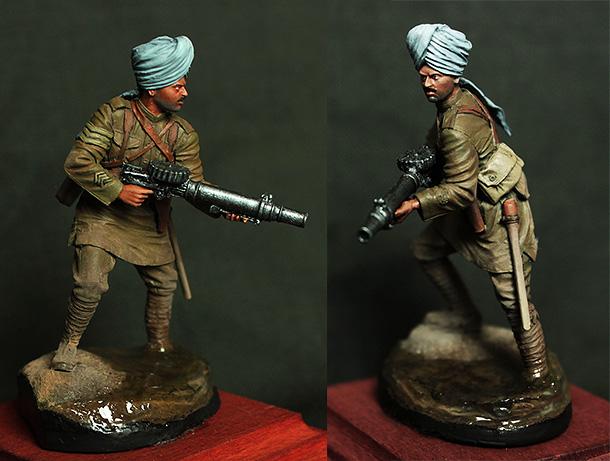 Figures: Indian machine gunner