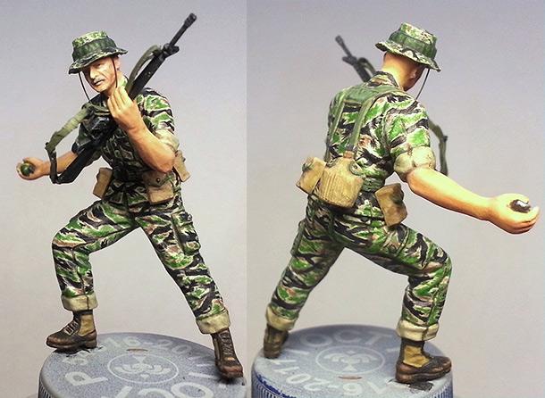 Figures: MACV-SOG scout. Vietnam, 1968