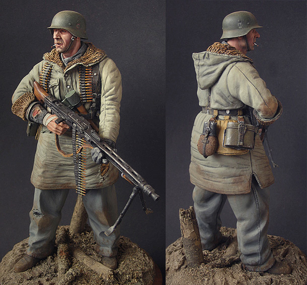 Figures: SS machine gunner