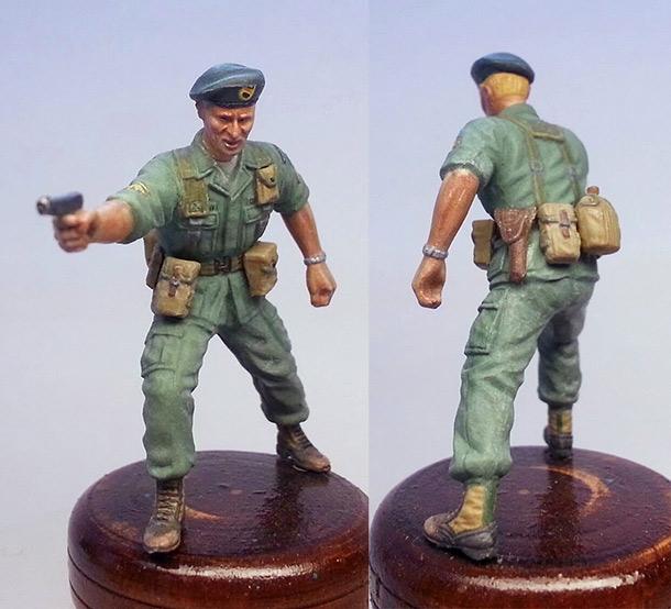 Figures: Sergeant, «Greet berets», Vietnam, 1968