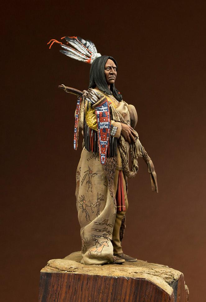 Figures: Hidatsa warrior, photo #7