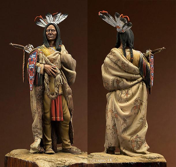 Figures: Hidatsa warrior