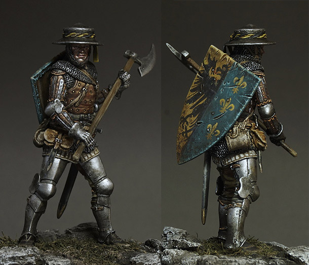 Figures:  Man at arms