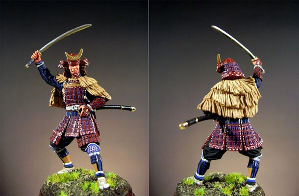 Figures: Samurai in the raincoat, XVI century