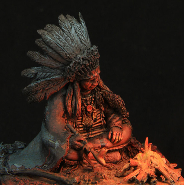 Dioramas and Vignettes: By a campfire