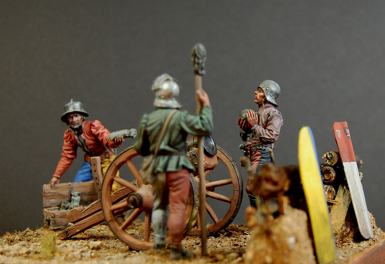 Dioramas and Vignettes: Bombard crew, Europe, XV cent., photo #2