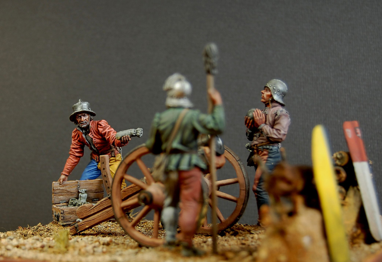 Dioramas and Vignettes: Bombard crew, Europe, XV cent., photo #3