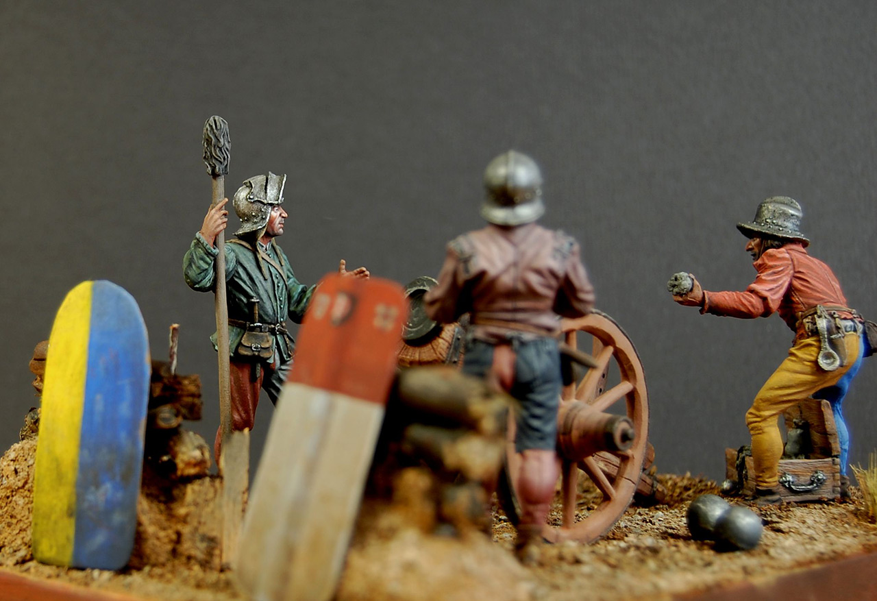 Dioramas and Vignettes: Bombard crew, Europe, XV cent., photo #4