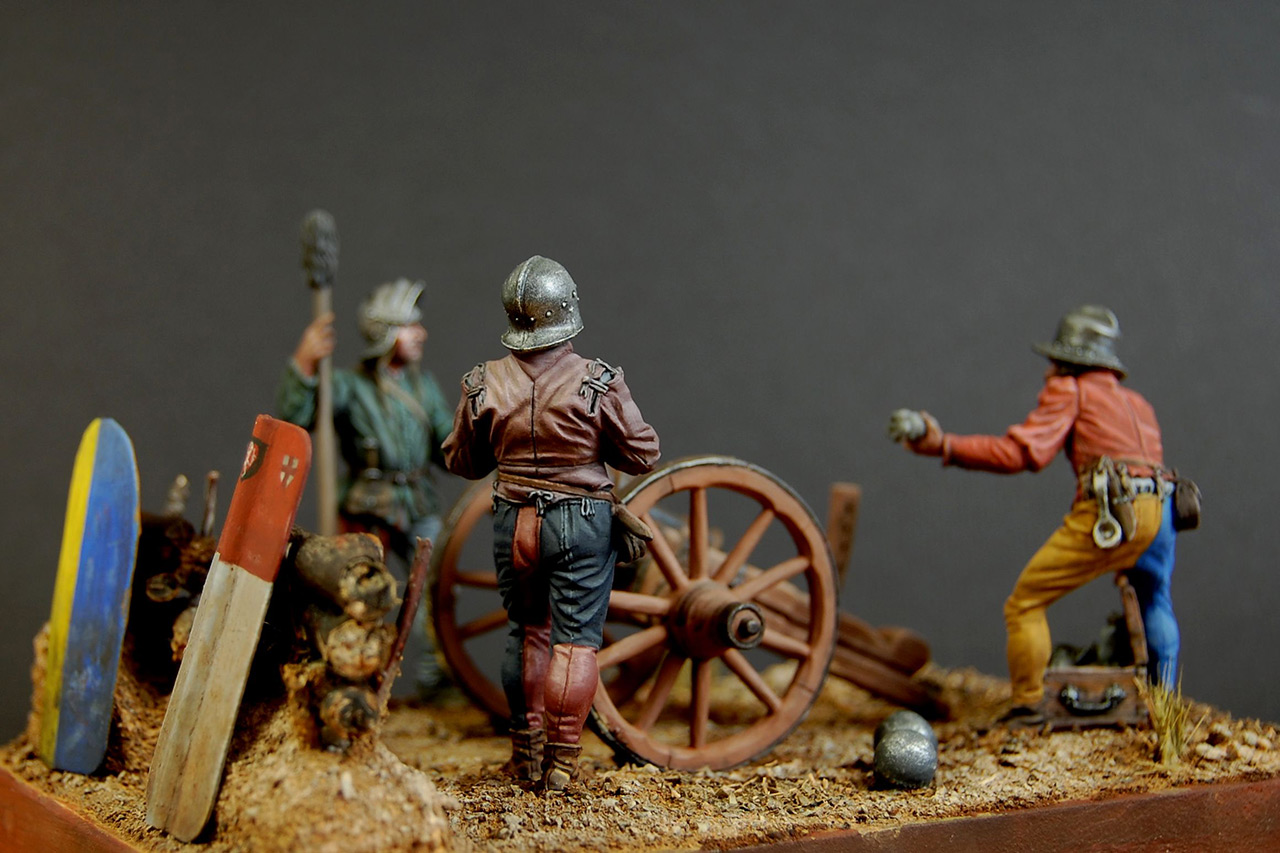 Dioramas and Vignettes: Bombard crew, Europe, XV cent., photo #6