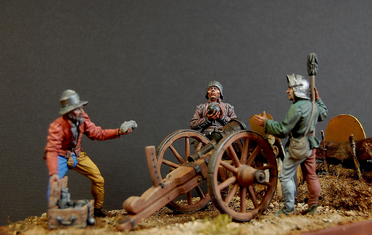 Dioramas and Vignettes: Bombard crew, Europe, XV cent., photo #7