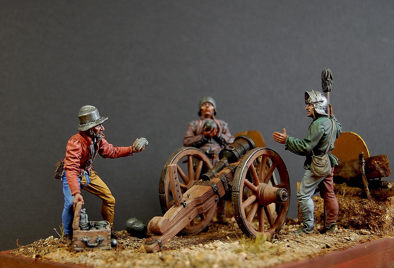 Dioramas and Vignettes: Bombard crew, Europe, XV cent., photo #8